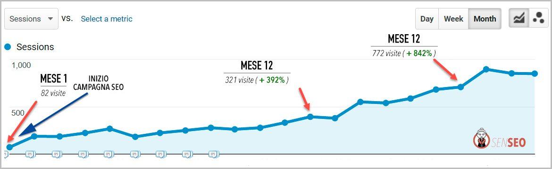 grafico di una consulenza seo riuscita